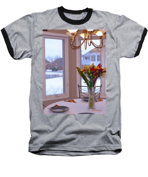 Dusk Dining View Baseball T-Shirt