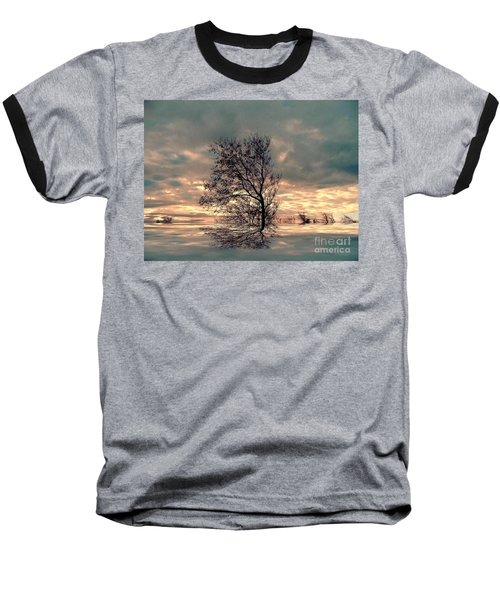 Baseball T-Shirt featuring the photograph Dusk by Elfriede Fulda