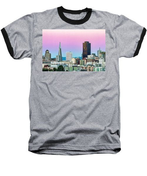 Baseball T-Shirt featuring the photograph Dusk In San Francisco by Bill Gallagher