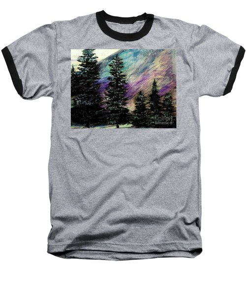 Dusk On Purple Mountain Baseball T-Shirt
