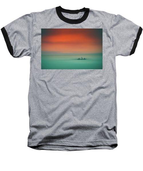 Dusk On The Lake Baseball T-Shirt