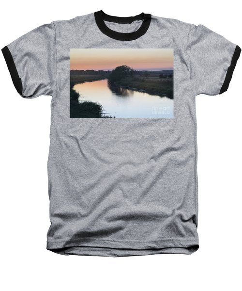 Baseball T-Shirt featuring the photograph Dusk On The River Rother by Perry Rodriguez
