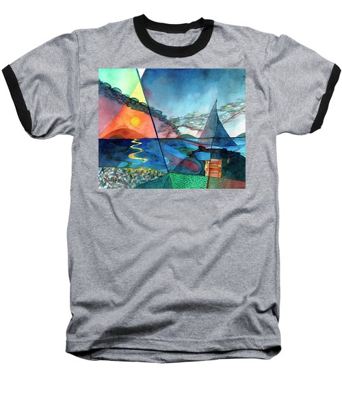 Dusk Over The Chesapeake Baseball T-Shirt