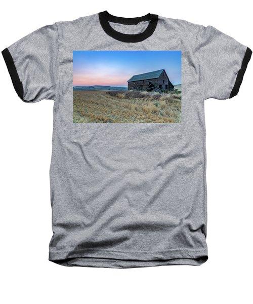 Dusk Setting On A Palouse Barn Baseball T-Shirt