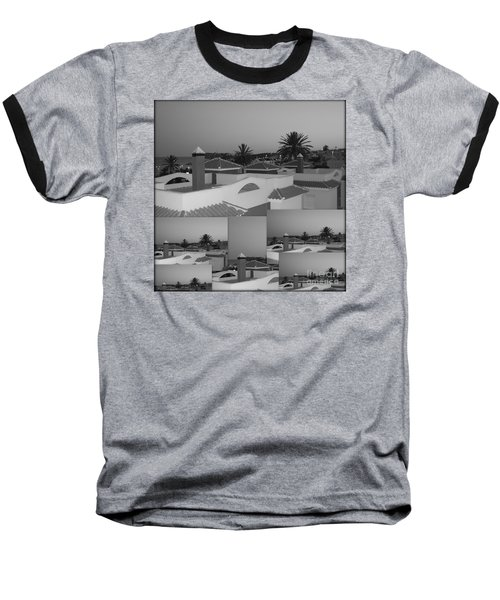 Dusky Rooftops Baseball T-Shirt