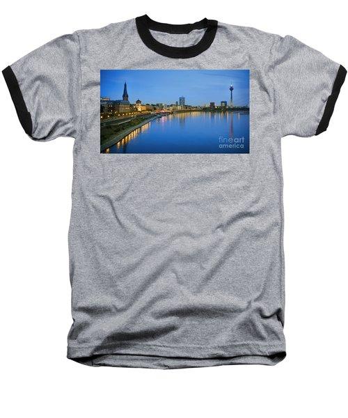Dusseldorf Skyline  Baseball T-Shirt