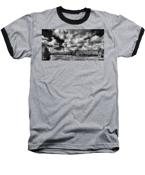 Baseball T-Shirt featuring the photograph Dusting Of Snow On The River by David Patterson