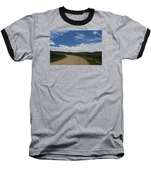Dusty  Road Baseball T-Shirt by Suzanne Lorenz