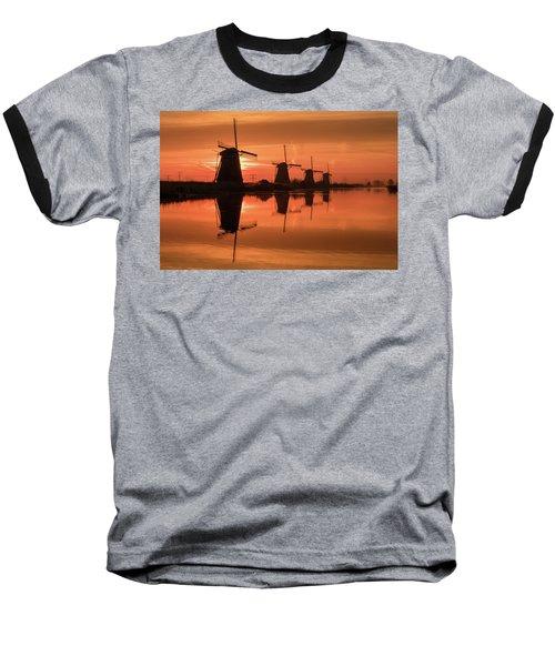 Dutch Sillhouette Baseball T-Shirt