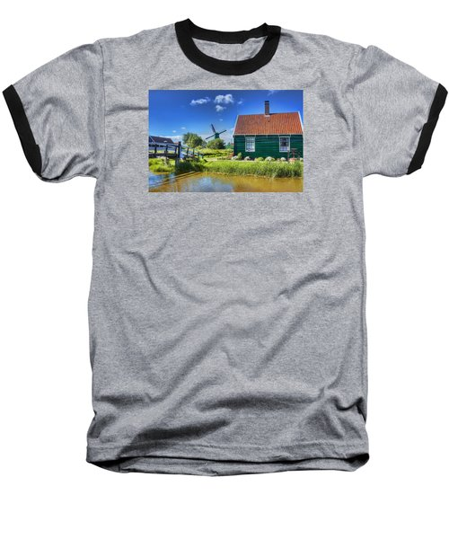 Dutch Village Baseball T-Shirt by Nadia Sanowar