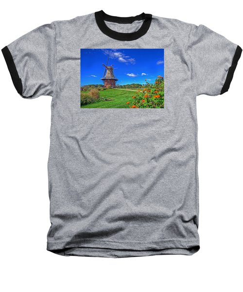 Baseball T-Shirt featuring the photograph Dutch Windmill by Rodney Campbell