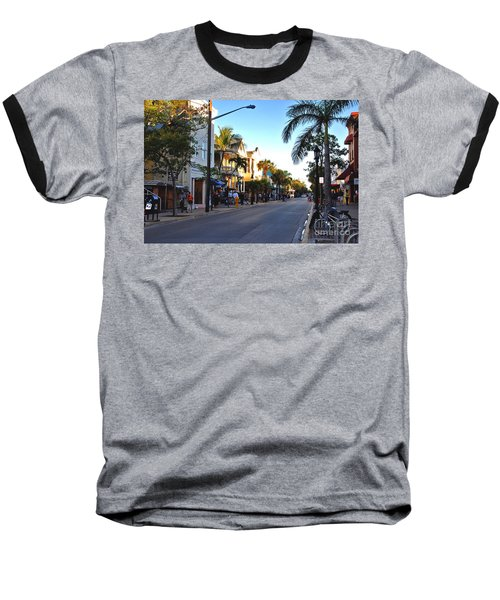 Duval Street In Key West Baseball T-Shirt