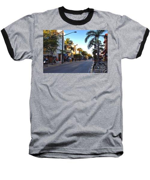 Duval Street In Key West Baseball T-Shirt