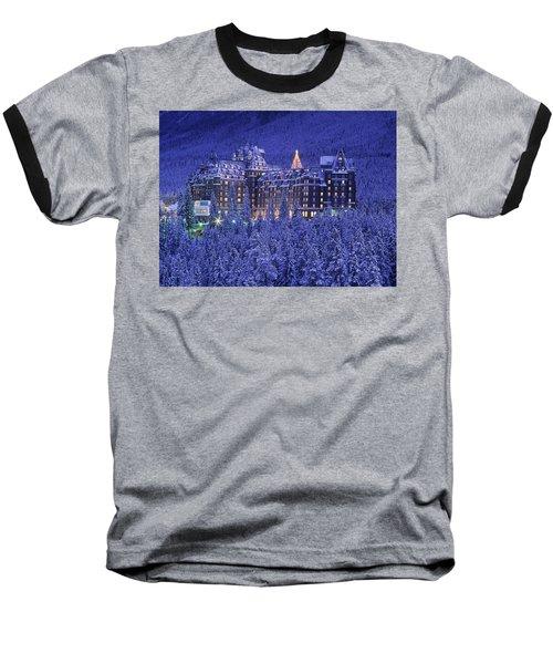 D.wiggett Banff Springs Hotel In Winter Baseball T-Shirt