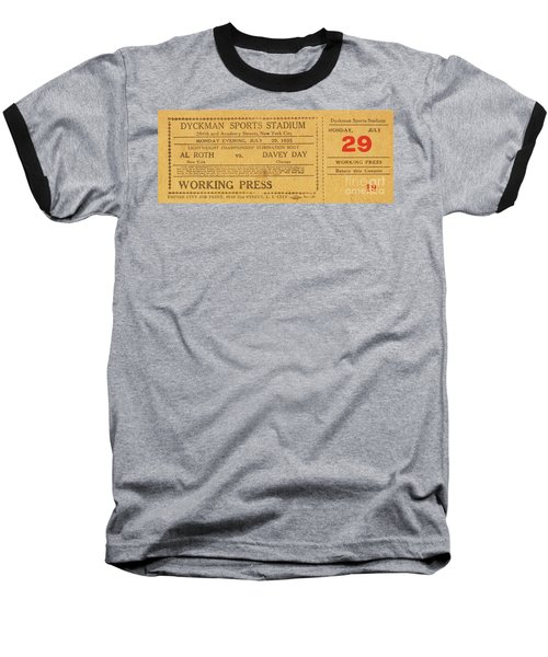 Baseball T-Shirt featuring the photograph Dyckman Oval Ticket by Cole Thompson