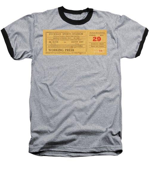 Dyckman Oval Ticket Baseball T-Shirt