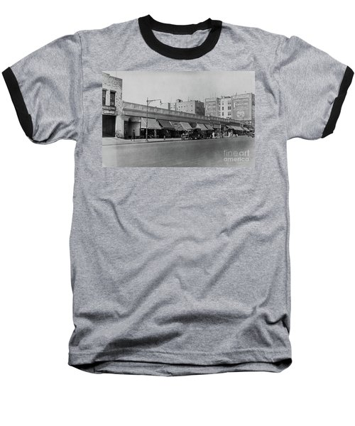 Baseball T-Shirt featuring the photograph Dyckman Street, 1927 by Cole Thompson