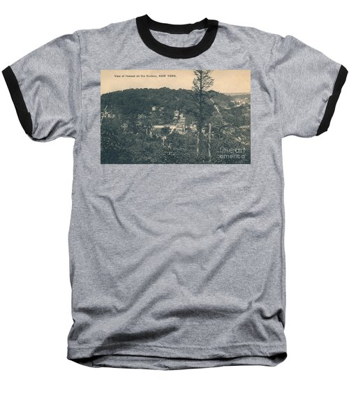 Dyckman Street At Turn Of The Century Baseball T-Shirt by Cole Thompson