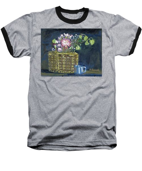 Baseball T-Shirt featuring the painting Dying Flowers by Michael Daniels