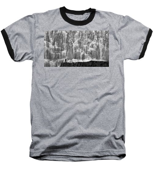 Baseball T-Shirt featuring the photograph Dynjandi Daredevil No. 2 by Joe Bonita