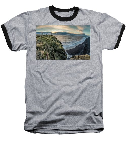 Dyrholaey Light House Baseball T-Shirt by Allen Biedrzycki