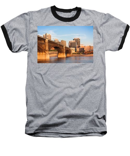 Eads Bridge At St Louis Baseball T-Shirt by Semmick Photo