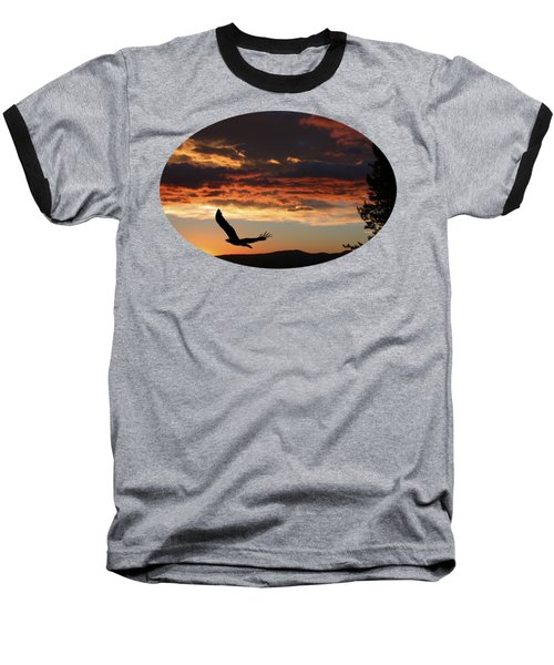 Eagle At Sunset Baseball T-Shirt