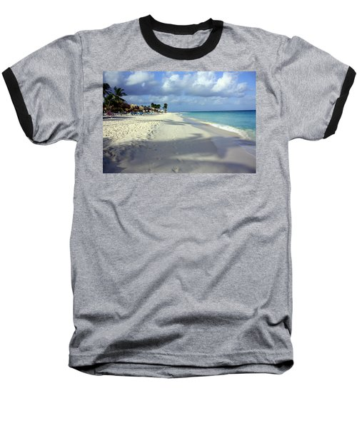 Eagle Beach Aruba Baseball T-Shirt by Suzanne Stout