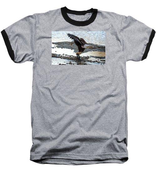 Eagle Dinner Baseball T-Shirt by Sabine Edrissi