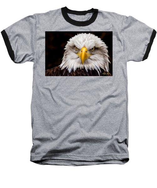 Defiant And Resolute - Bald Eagle Baseball T-Shirt