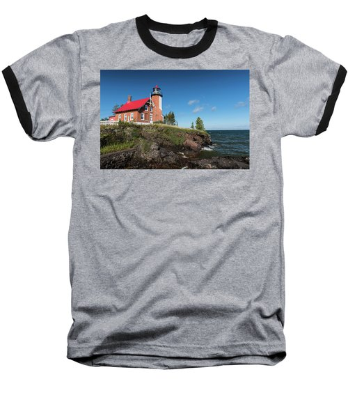 Eagle Harbor Lighthouse Baseball T-Shirt