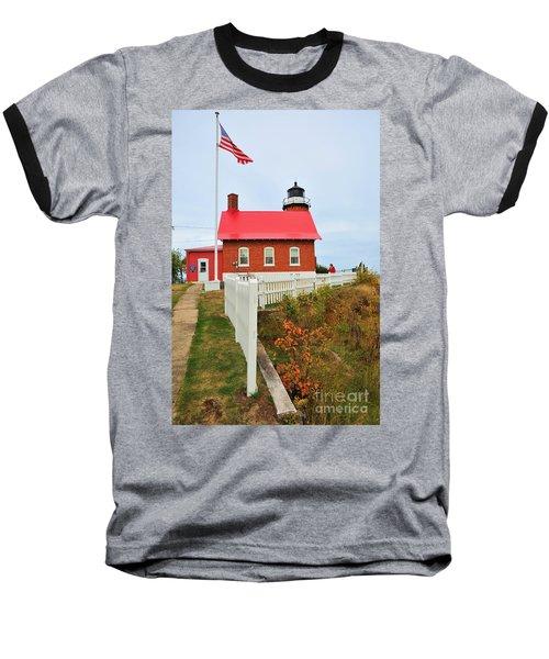 Eagle Harbor Lighthouse Baseball T-Shirt