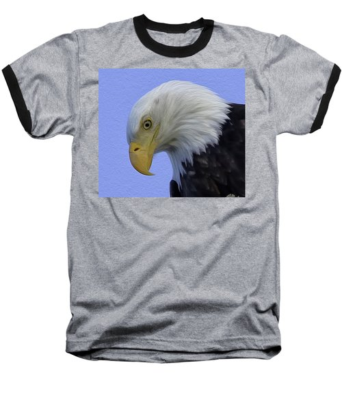 Eagle Head Paint Baseball T-Shirt