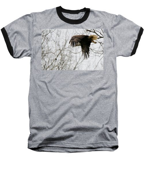 Baseball T-Shirt featuring the photograph Eagle In Flight by Michael Peychich