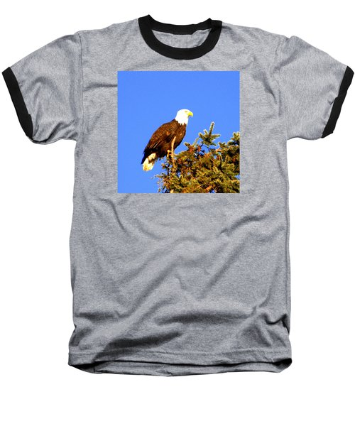 Baseball T-Shirt featuring the photograph Eagle by Jerry Cahill