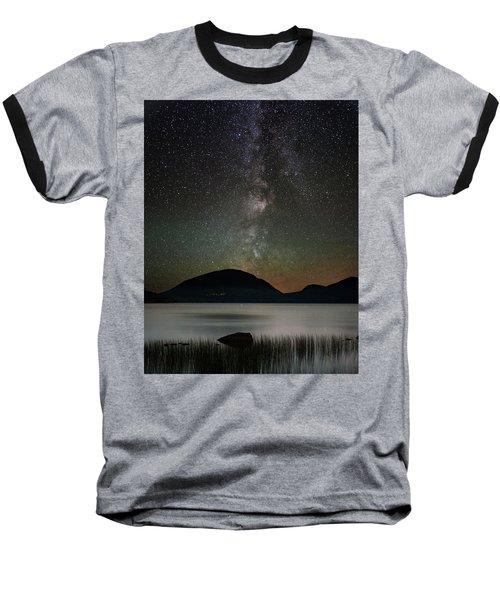 Eagle Lake And The Milky Way Baseball T-Shirt