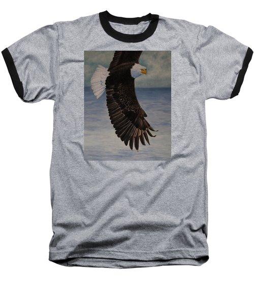 Eagle - Low Pass Turn Baseball T-Shirt by Roena King