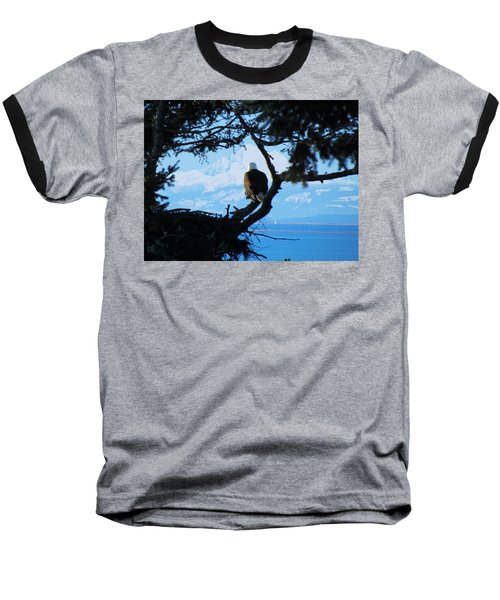 Eagle - Mt Baker - Eagles Nest Baseball T-Shirt