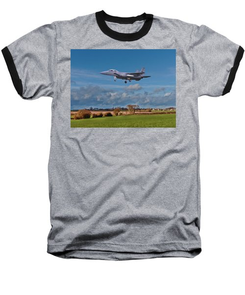 Baseball T-Shirt featuring the photograph Eagle On Finals by Paul Gulliver