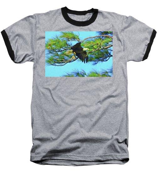 Baseball T-Shirt featuring the painting Eagle Series Food by Deborah Benoit