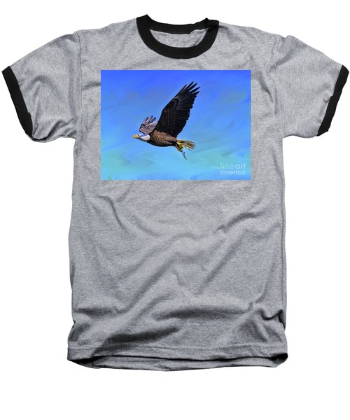 Baseball T-Shirt featuring the photograph Eagle Series Success by Deborah Benoit