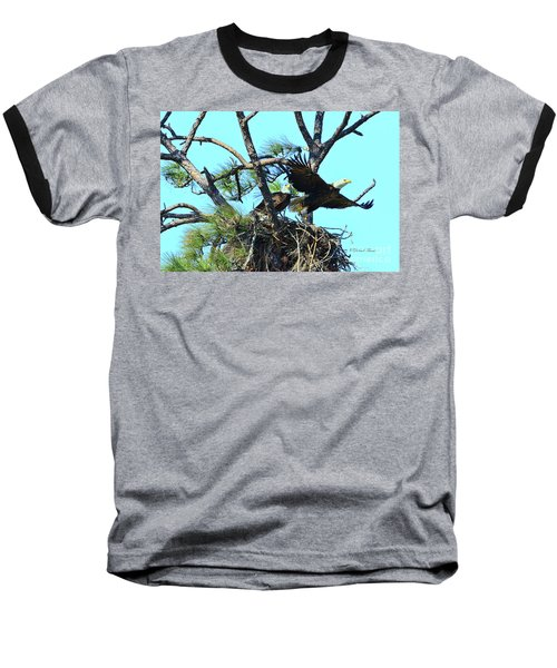 Baseball T-Shirt featuring the photograph Eagle Series The Nest by Deborah Benoit