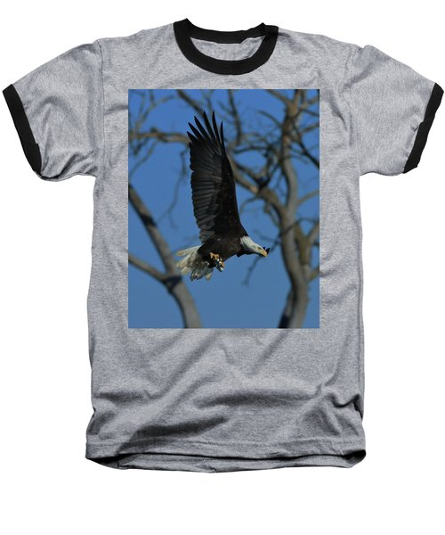 Baseball T-Shirt featuring the photograph Eagle With Fish by Coby Cooper