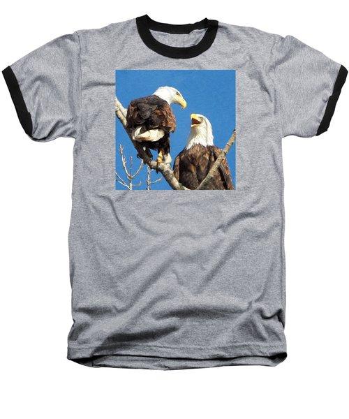 Baseball T-Shirt featuring the photograph Eagles - Grafton, Illinois by John Freidenberg