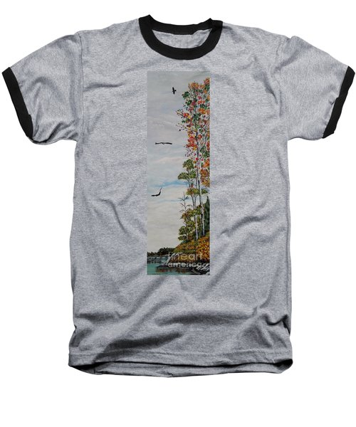 Baseball T-Shirt featuring the painting Eagles Point by Marilyn  McNish