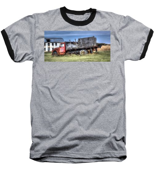 Baseball T-Shirt featuring the photograph Earl Latsha Lumber Company - Version 1 by Shelley Neff