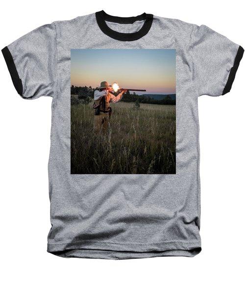 Early 1800's Flintlock Muzzleloader Blast Baseball T-Shirt