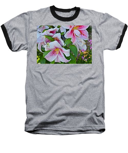 Early August Tumble Of Lilies Baseball T-Shirt