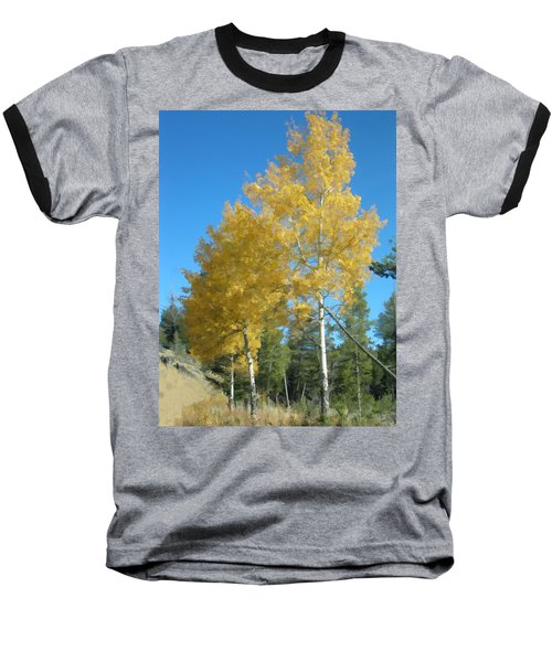 Baseball T-Shirt featuring the photograph Early Autumn Aspens by Gary Baird