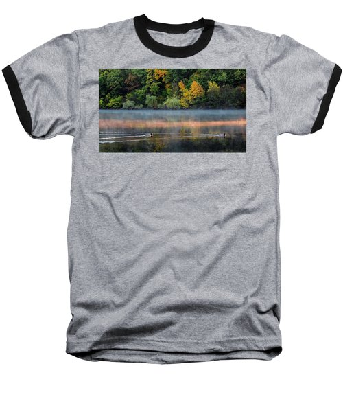 Early Autumn Morning At Longfellow Pond Baseball T-Shirt